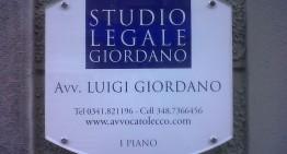 avv. Luigi Giordano – Studio Legale – Bellano – Lecco
